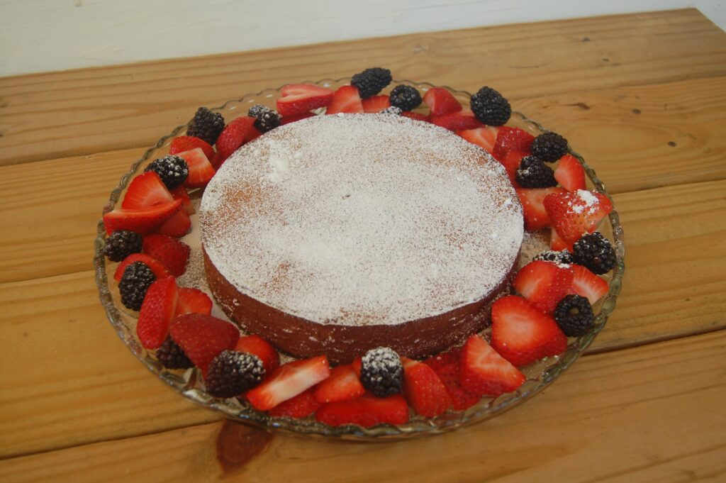 Dinner - Traditional Honey Cake With Berries